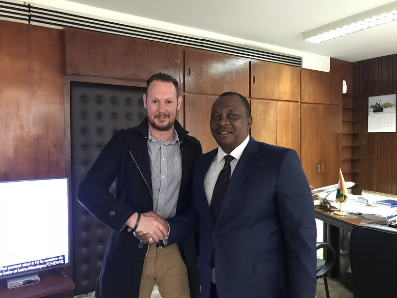Kevin and minister of Ivory Coast