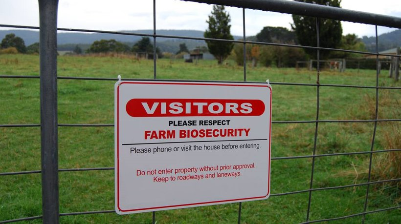 Biosecurity layers sign